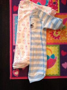 2 Long Sleeve Carter's Sleep Sacs Boy and Girl