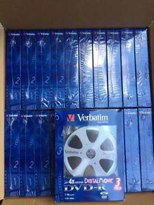 Brand New Verbatim Blank DVD-R 4.76GB Discs w/Individual Cases