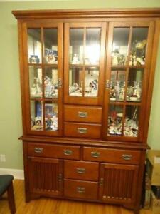 Mission Style Dining Table, Buffet and Hutch