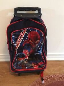Spider-Man kids bag back with wheels. AVAILABLE