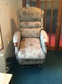 Electric Beige Recliner riser chair