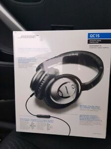 Bose QC 15  noise canceling headphones