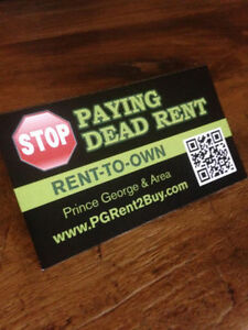 RENT TO OWN- STOP PAYING DEAD RENT!