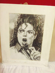 Stunning Hand Sketched Portrait of Michael Jackson Windsor Region Ontario image 1