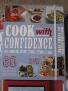 """""""Cook with Confidence"""" w/DVD, brand new - REDUCED to $4.00 ea."""