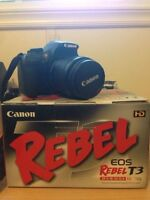Canon Rebel T3 + Extras
