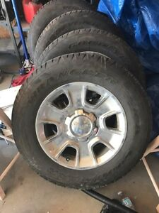 """18"""" GMC Rims/Tires/Sensors/Nuts Must Sell"""