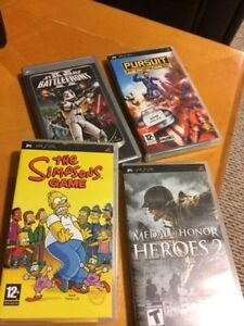 4 PSP Games as pictured