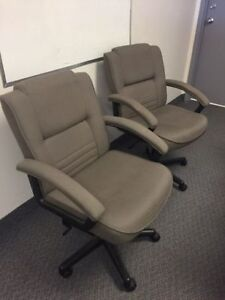 ADJUSTABLE OFFICE CHAIR + WAITING ROOM CHAIRS