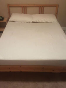 IKEA double size bed (no mattress) $ 65, night stand $ 15