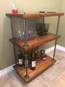 Industrial bar cart, shelves, mantles and coffee tables! Kitchener / Waterloo Kitchener Area image 5