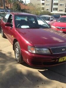 1995 Nissan Maxima A32 30G Red 4 Speed Automatic Sedan Wentworthville Parramatta Area Preview