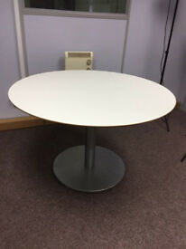 Round White Table