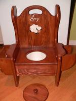 Toilette pour enfant pour l'apprentissage de la propreté.