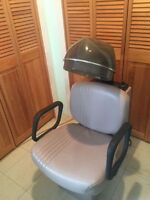 Salon Chair with Hydraulic Rise AND Salon Dryer Chair