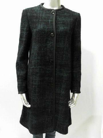 70s Black Long Wool 3/4 Sleeve Over Sized Minimalist Coat Jacket JsXbV2itcZ