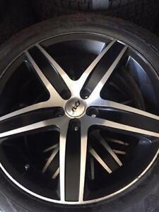 225/60/18 pneus hiver + mags