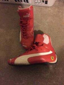 AUTHENTIC HIGH TOP RED PUMA FERRARI SHOES - BOYS YOUTH SIZE 3