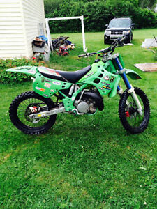 kx 250 two stroke dirtbike works perfect needs nothing