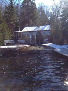 Lakefront Very PRIVATE Camp For Sale