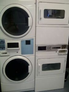 Coin Operated Washer Dryer. Stacked. Commercial.