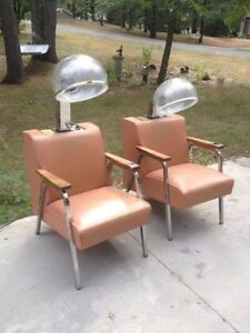 "Vintage - ""Helene Curtis"" salon hair dryer chairs - hairdresser London Ontario image 4"