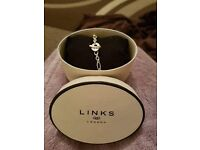 Links of London bracelet and S charm