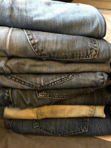 8 pairs of designer jeans. 36x32  Barely worn.Smoke free home.