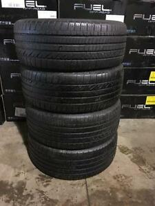 4 quality used P 235/40/20 Dunlop Grand Trek all season tires INSTALLED