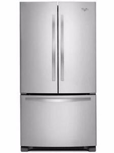 33'' Refrigerator, French doors, Stainless, WHIRLPOOL
