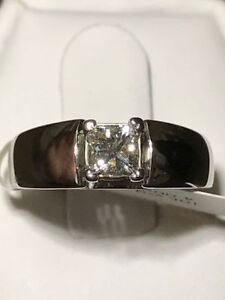0.45CT 10K WG ENGAGEMENT RING ON SALE 55% OFF NOW !!!!!
