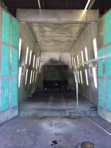 Pyramid Truck paint spray booth autobody 34ft long MAKEUP AIR