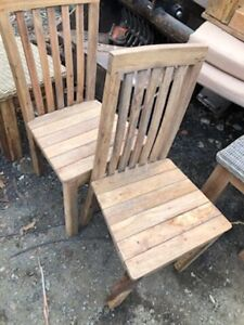 2x light wood chairs Tuggerah Wyong Area Preview