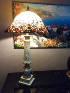 Antique Tiffany Column Lamp