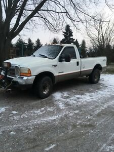 1999 Ford F-250 Pickup Truck w plow and trailer
