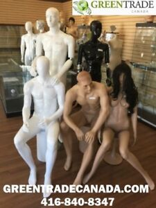 White or Black Realistic Mannequins and Dress forms.