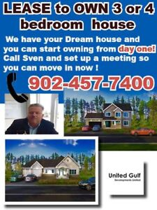 NEW HOUSES - LEASE TO OWN - Call Sven 902-457-7400