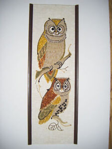 Hand crafted Owl Picture for sale in Truro..