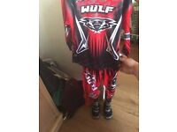babys first motor cross outfit brand new