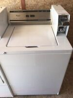 Coin operated washer and dryer pair