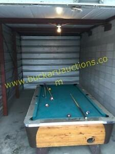 Pool Table @ Auction Storage Locker With Pool Table