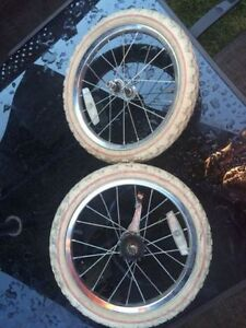 16 inch bike wheels/tires - Front and back