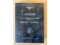 Jaguar original E Type 3.8 and 4.2 service manual
