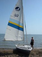 Bombardier 4.8 sailboat with trailer