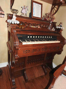 antique pump organ small fully restored inside & outside
