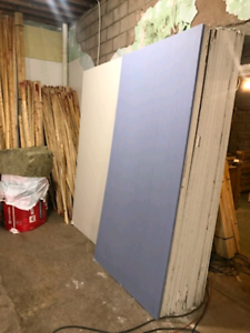 Drywall concrete board shower material