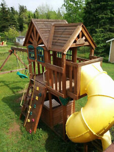 Costco big play stucture with twist slide