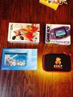 Lot Consoles Portables Nintendo GameBoy Advance (GBA), DS 3DS XL