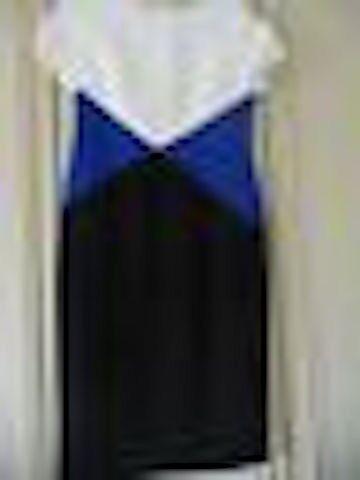 M&S TRICOLOUR COLOUR BLOCK DRESS SIZE 16 BNWT