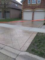 Stamped Concrete Overlay, Porch Restorations, Sealing, Parging
